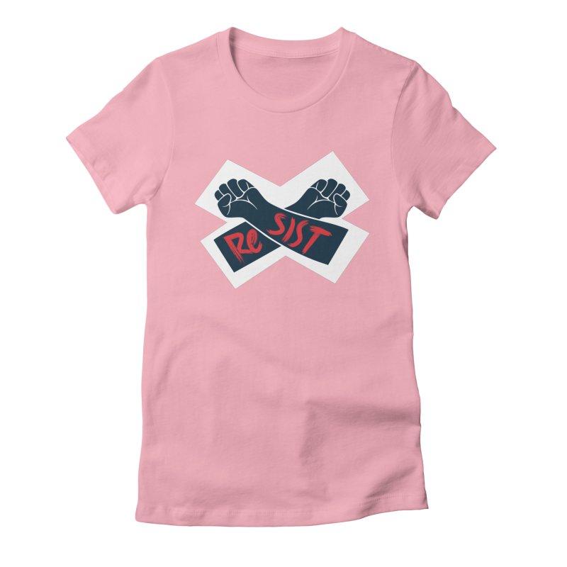 RESIST Women's Fitted T-Shirt by Rick Pinchera's Artist Shop