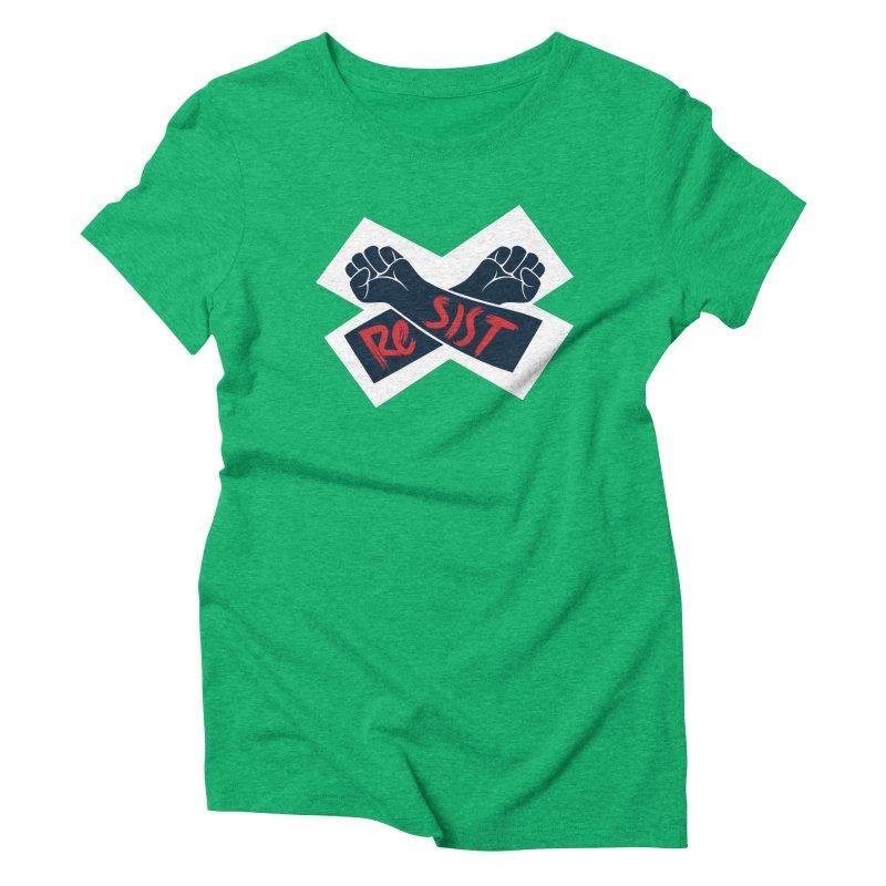 RESIST Women's Triblend T-Shirt by Rick Pinchera's Artist Shop
