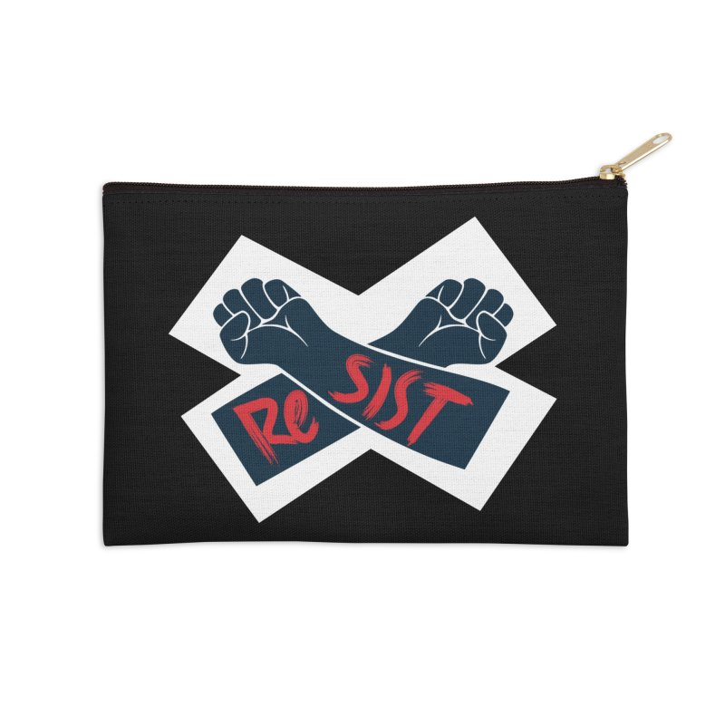 RESIST Accessories Zip Pouch by Rick Pinchera's Artist Shop