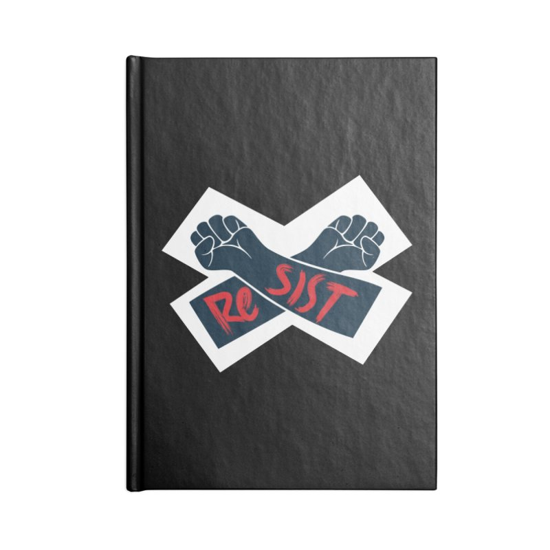 RESIST Accessories Lined Journal Notebook by Rick Pinchera's Artist Shop