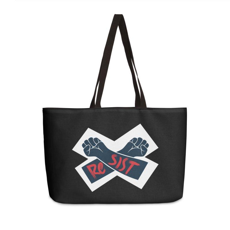 RESIST Accessories Weekender Bag Bag by Rick Pinchera's Artist Shop