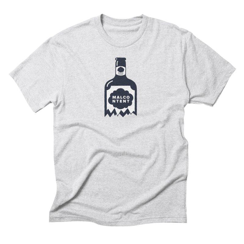 MALCONTENT Broken Bottle Men's Triblend T-Shirt by Rick Pinchera's Artist Shop