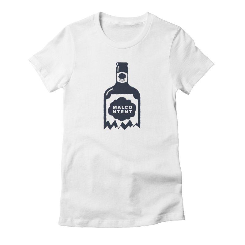 MALCONTENT Broken Bottle Women's Fitted T-Shirt by Rick Pinchera's Artist Shop