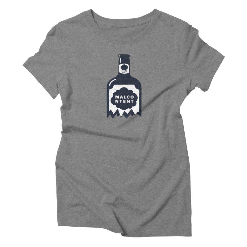 MALCONTENT Broken Bottle Women's Triblend T-Shirt by Rick Pinchera's Artist Shop