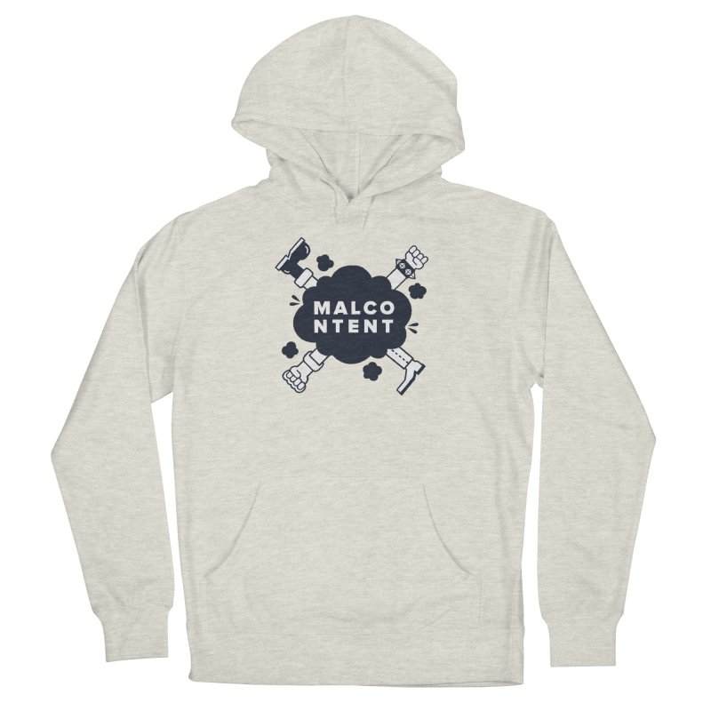MALCONTENT Fight Men's French Terry Pullover Hoody by Rick Pinchera's Artist Shop