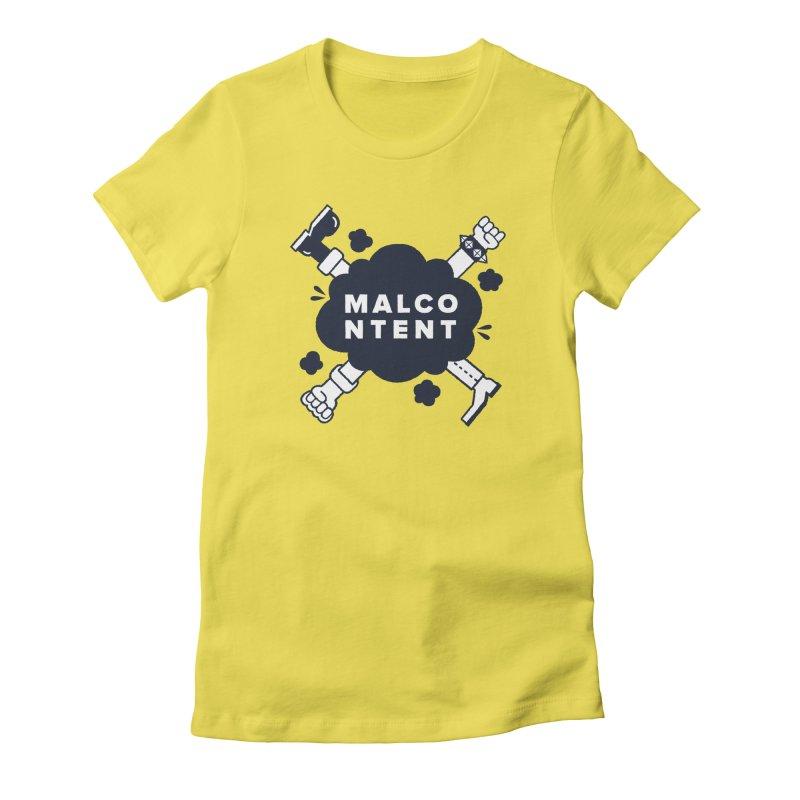 MALCONTENT Fight Women's T-Shirt by Rick Pinchera's Artist Shop