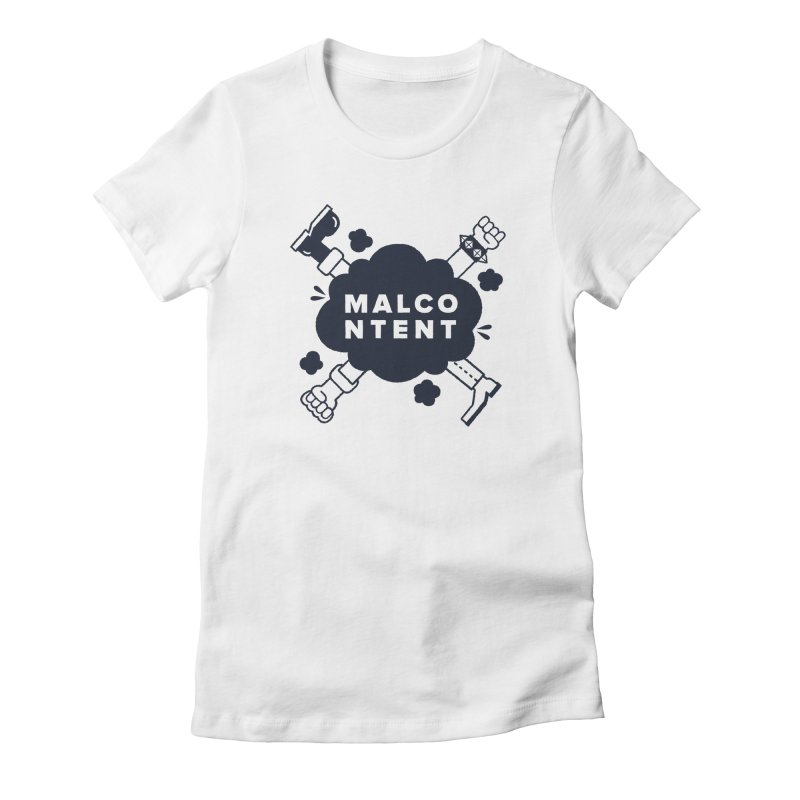 MALCONTENT Fight Women's Fitted T-Shirt by Rick Pinchera's Artist Shop