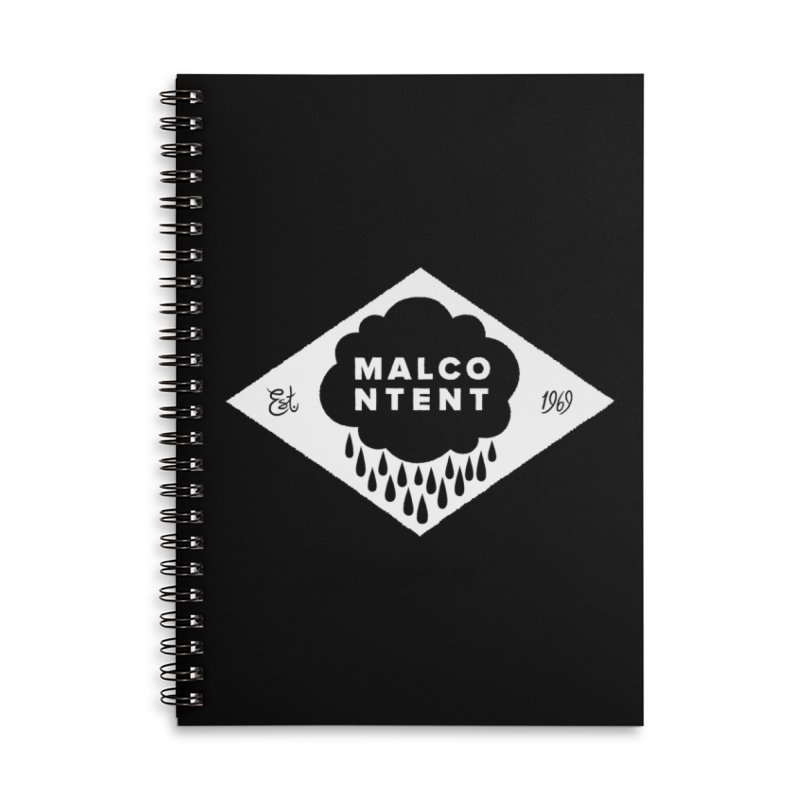 MALCONTENT Cloud Diamond Accessories Lined Spiral Notebook by Rick Pinchera's Artist Shop