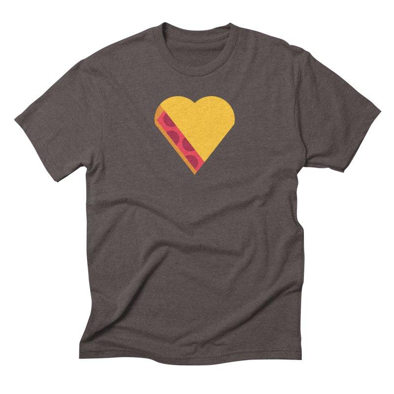 I Love Pie Men's Triblend T-Shirt by Rick Pinchera's Artist Shop