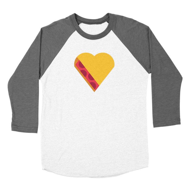 I Love Pie Men's Baseball Triblend Longsleeve T-Shirt by Rick Pinchera's Artist Shop