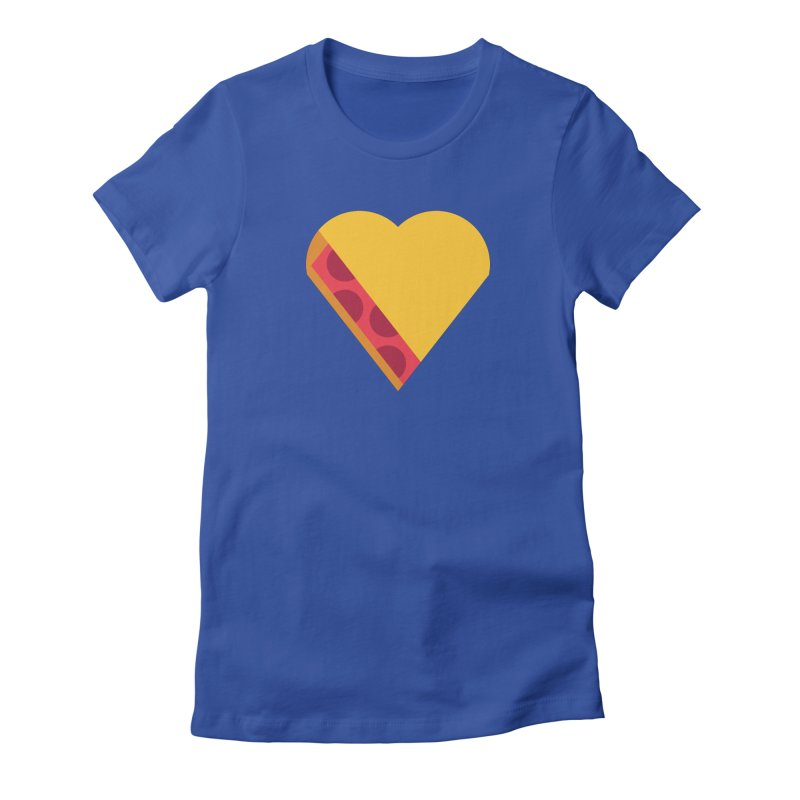 I Love Pie Women's Fitted T-Shirt by Rick Pinchera's Artist Shop