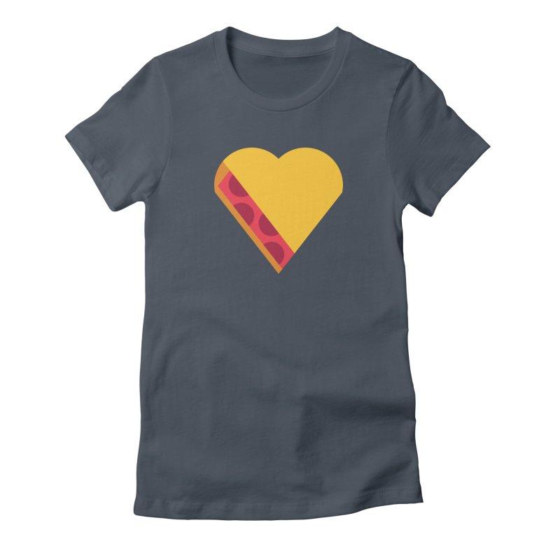 I Love Pie Women's Fitted T-Shirt by Rick Pinchera's Artist Shop