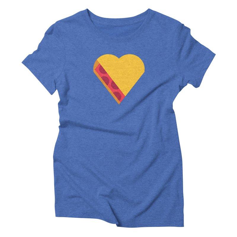 I Love Pie Women's Triblend T-Shirt by Rick Pinchera's Artist Shop