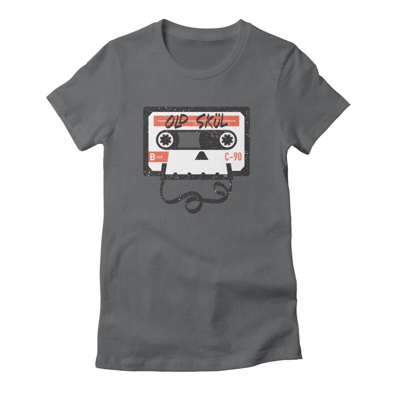 Old Skül Women's Fitted T-Shirt by Rick Pinchera's Artist Shop