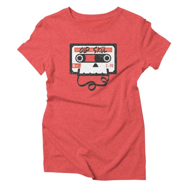 Old Skül Women's Triblend T-Shirt by Rick Pinchera's Artist Shop