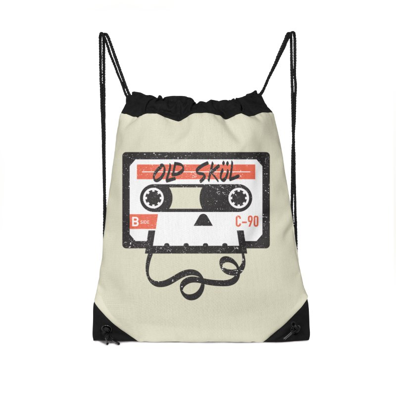Old Skül Accessories Drawstring Bag Bag by Rick Pinchera's Artist Shop