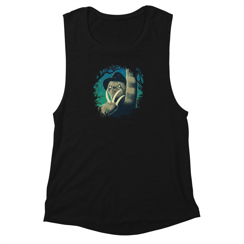 Sloth Freddy Women's Muscle Tank by Ricomambo