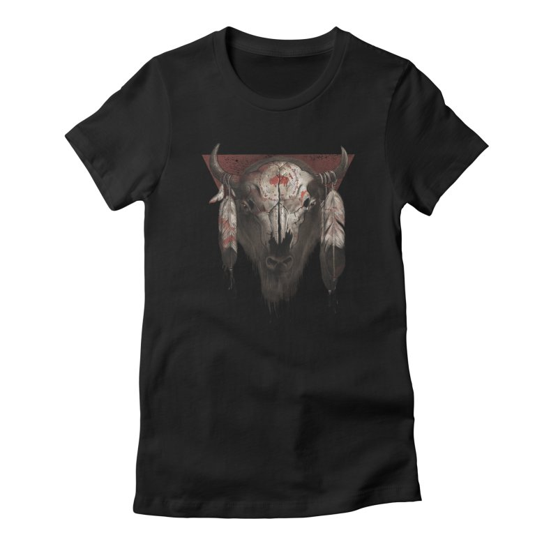 Tatanka Women's Fitted T-Shirt by Ricomambo