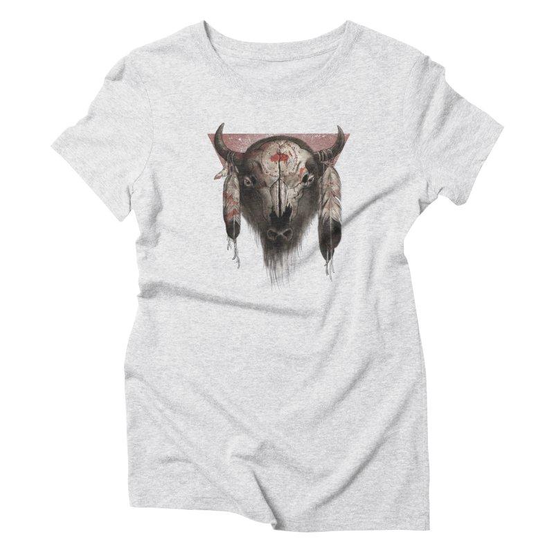 Tatanka Women's Triblend T-shirt by Ricomambo