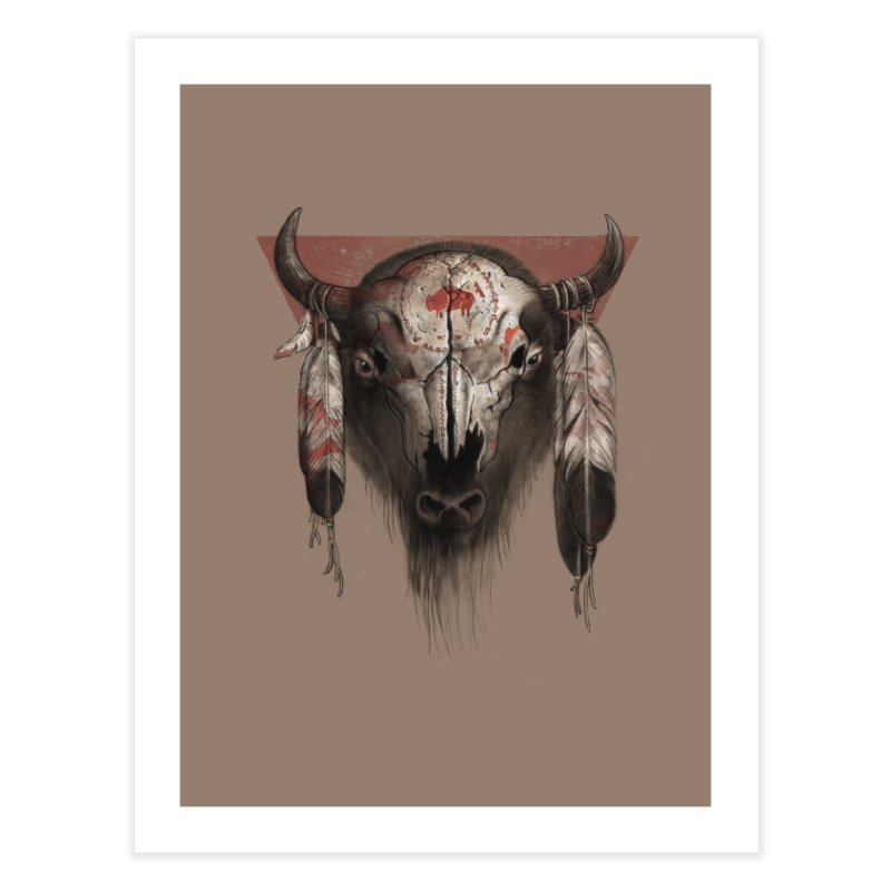 Tatanka Home Fine Art Print by Ricomambo