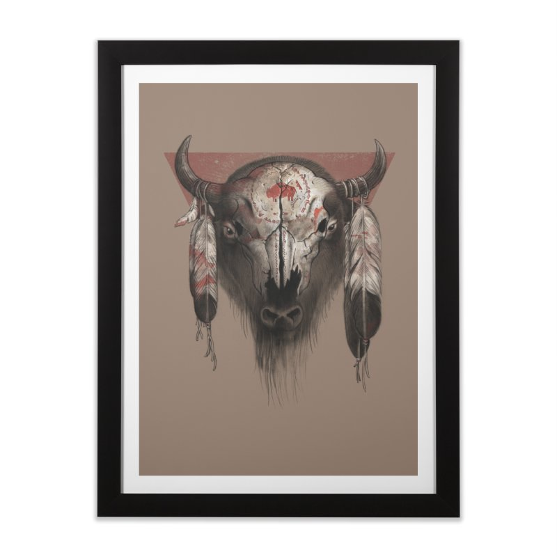 Tatanka Home Framed Fine Art Print by Ricomambo