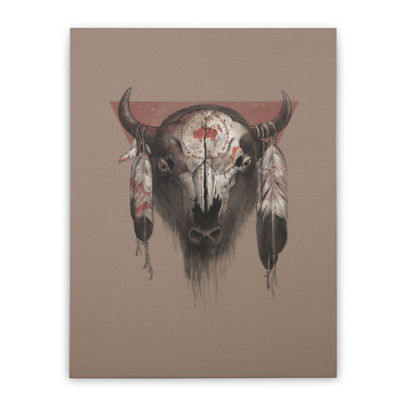 Tatanka Home Stretched Canvas by Ricomambo