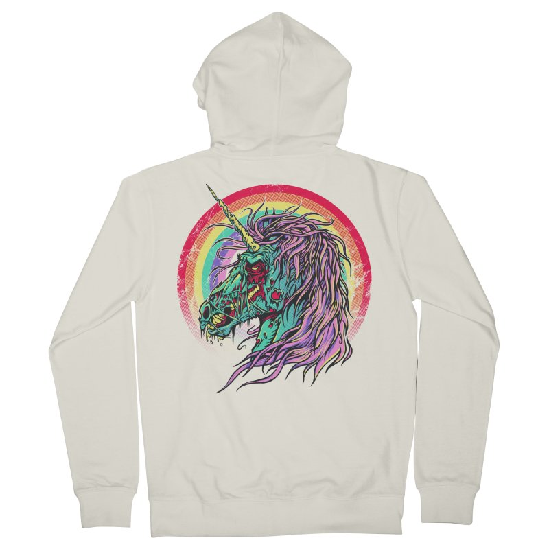 Unicorn Zombie Men's Zip-Up Hoody by Ricomambo