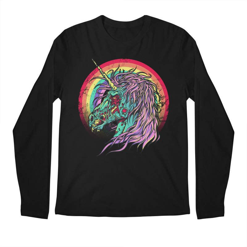 Unicorn Zombie Men's Longsleeve T-Shirt by Ricomambo