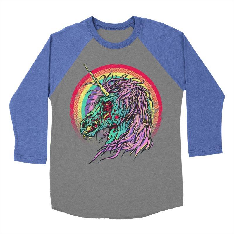 Unicorn Zombie Men's Baseball Triblend T-Shirt by Ricomambo