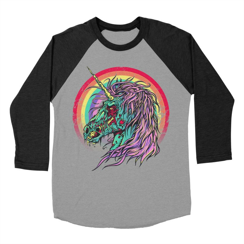 Unicorn Zombie Men's Baseball Triblend T-Shirt by Ricomambo