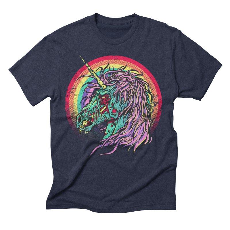 Unicorn Zombie Men's Triblend T-shirt by Ricomambo