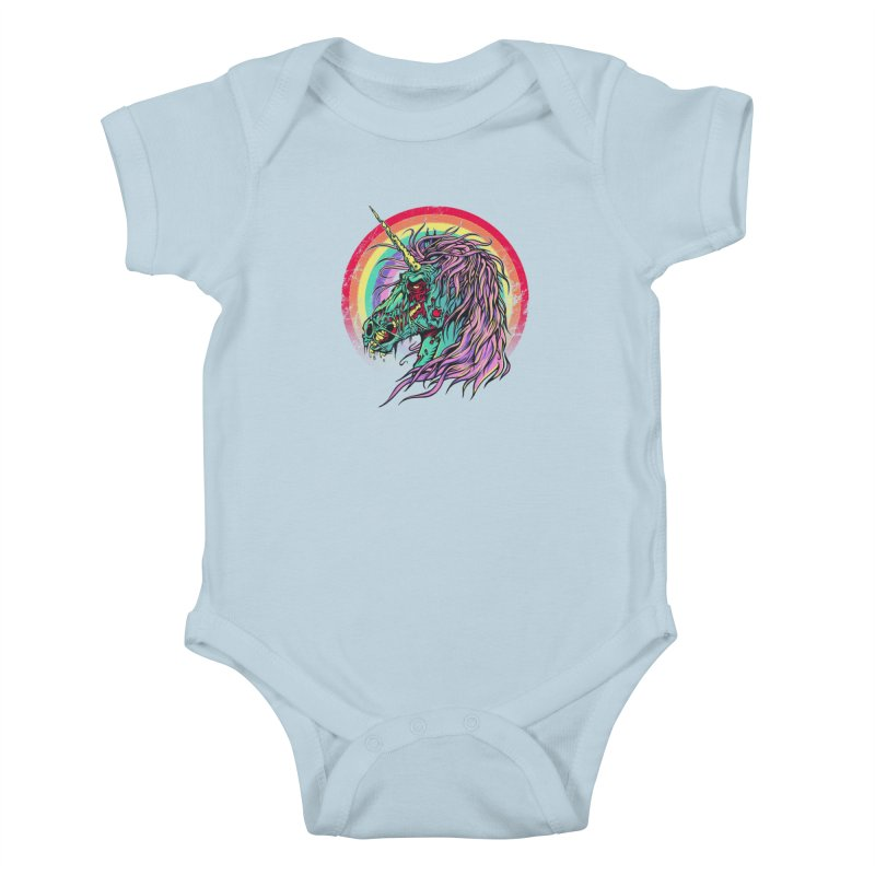 Unicorn Zombie Kids Baby Bodysuit by Ricomambo