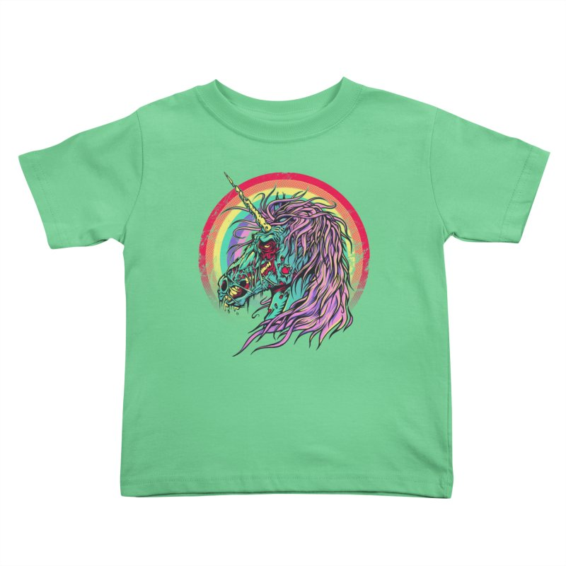Unicorn Zombie Kids Toddler T-Shirt by Ricomambo