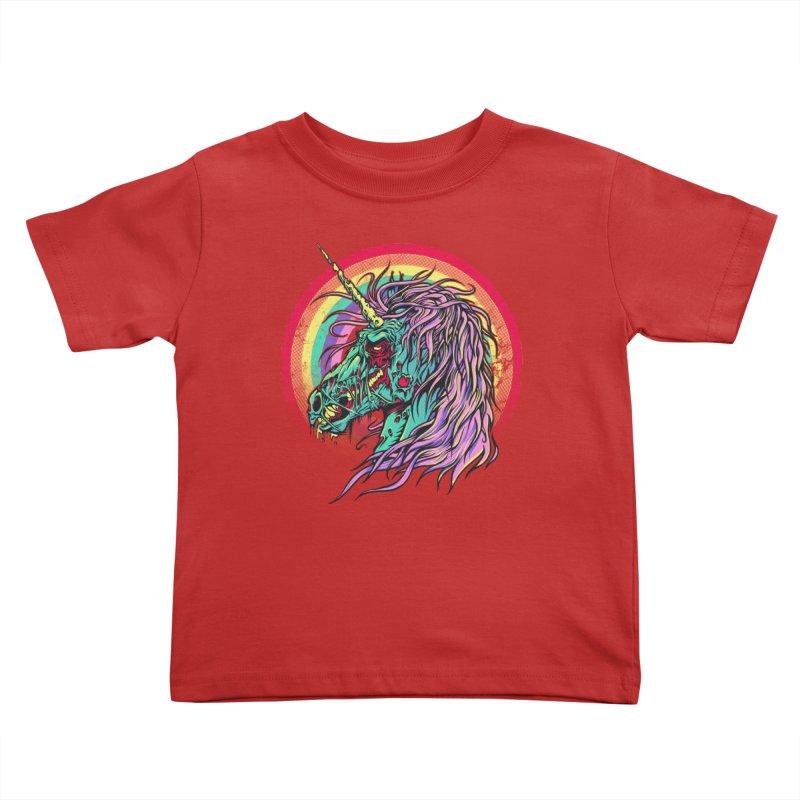 Unicorn Zombie Kids Toddler T-Shirt by Ricomambo