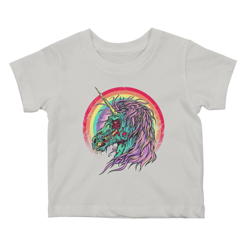 Unicorn Zombie Kids Baby T-Shirt by Ricomambo