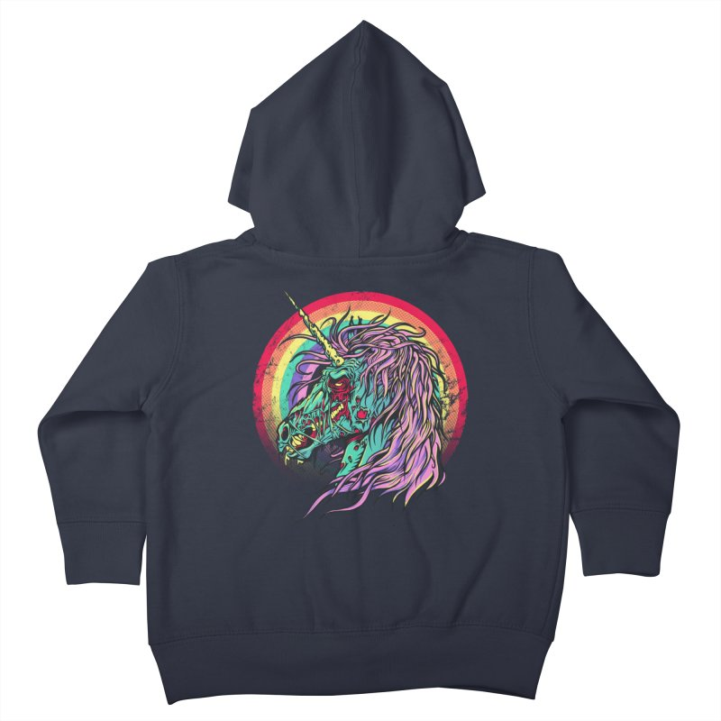 Unicorn Zombie Kids Toddler Zip-Up Hoody by Ricomambo
