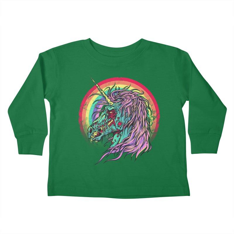 Unicorn Zombie Kids Toddler Longsleeve T-Shirt by Ricomambo