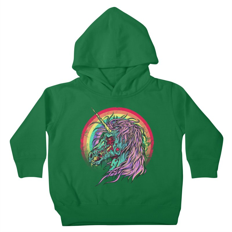 Unicorn Zombie Kids Toddler Pullover Hoody by Ricomambo