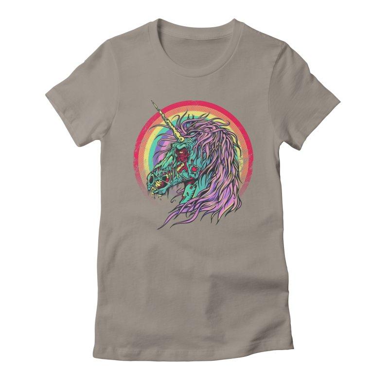 Unicorn Zombie Women's Fitted T-Shirt by Ricomambo