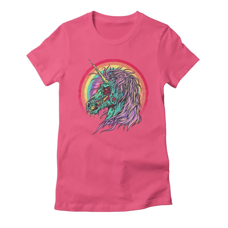 Unicorn Zombie Women's Fitted T-Shirt by Ricomambo