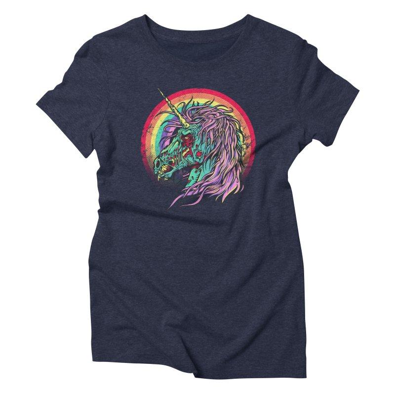 Unicorn Zombie Women's Triblend T-Shirt by Ricomambo