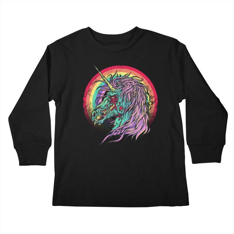Unicorn Zombie Kids Longsleeve T-Shirt by Ricomambo