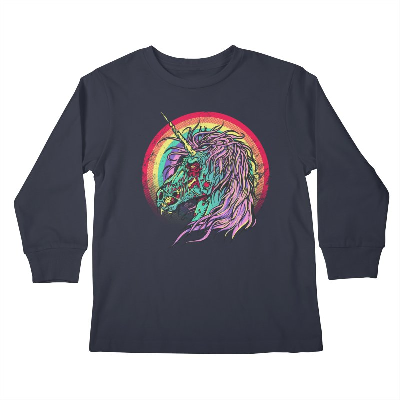 Unicorn Zombie Kids Longsleeve T-Shirt by Ricomambo