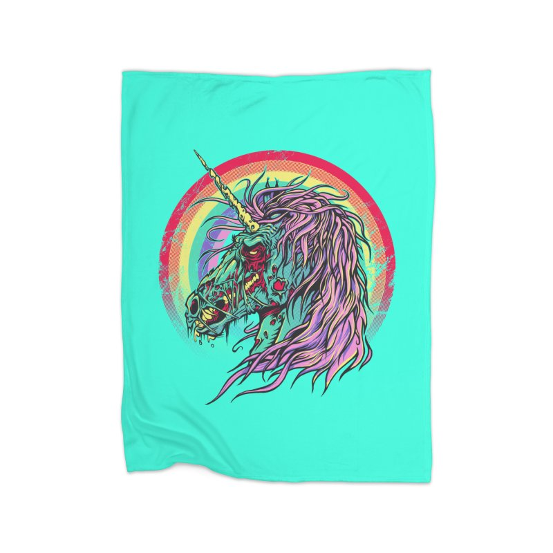 Unicorn Zombie Home Blanket by Ricomambo