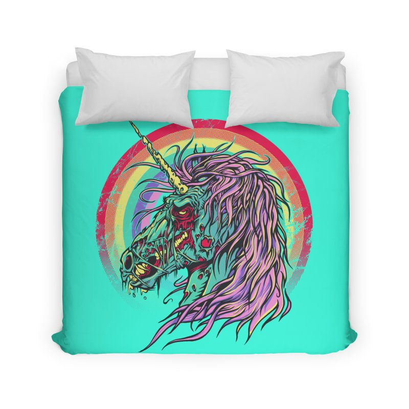 Unicorn Zombie Home Duvet by Ricomambo
