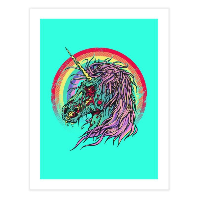 Unicorn Zombie Home Fine Art Print by Ricomambo