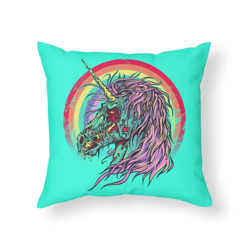 Unicorn Zombie Home Throw Pillow by Ricomambo