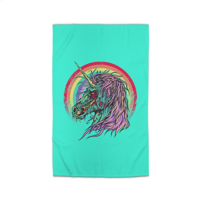 Unicorn Zombie Home Rug by Ricomambo