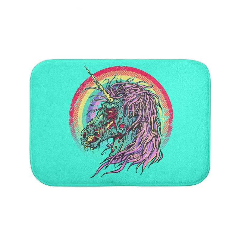 Unicorn Zombie Home Bath Mat by Ricomambo