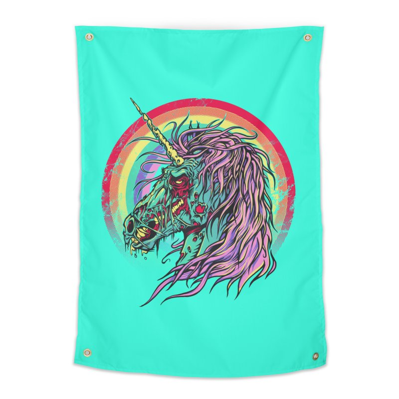 Unicorn Zombie Home Tapestry by Ricomambo